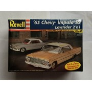 #2176 Revell 63 Chevy Impala Ss Lowrider 2n 1 1/25 Scale Plastic Model Kit.