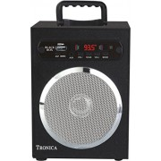 GREY SPECTRUM Black Box MP3/SD Card/AUX/FM Speaker Powered By Rechargeable Battery