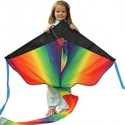 Huge Rainbow Kite - 46-Inch Wingspan - Beginner Kites For Sale - Floats In The Breeze Rainbow Kite - Perfect Kites For Kids Easy Flyer - Lightweight And Strong Nylon Construction
