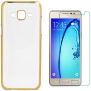 Electroplated Golden Chrome Back Cover with 2.5D HD Tempered Glass for Gionee F103 Pro