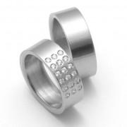 Snubní Titanové prsteny ZERO Collection TTN2802+TTN2801