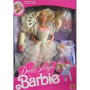 Dance Magic Barbie Doll w Color Change Lips - Dress Changes From Ballgown to Ballet to Disco! (1989 Mattel Hawthorne)