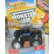 2010 HOT WHEELS 1/64 MONSTER JAM grave digger 30th anniversary with topps card collectible inside predator monster truck by Hot Wheels