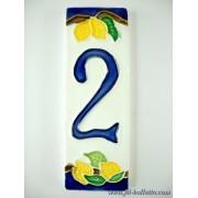 Numero civico ceramica con limoni nlp2