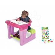 Iskolapad Smoby tároló résszel és mágneses betűkkel és számokkal 72 db rózsaszín/kék