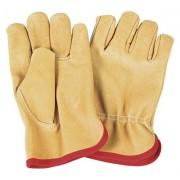 Verdemax 4928 X-Large Flower Leather Garden Glove with Internal Jersey Cotton