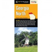Universal Map Georgia Regional North Fold Map 11849