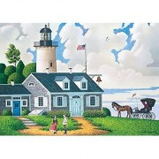 300 Piece Charles Wysocki The Lighthouse Keepers Daughter Jigsaw Puzzle