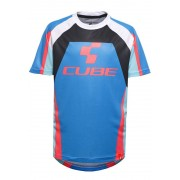 Cube Action Team Rundhalstrikot kurzarm Junior blue'n'white'n'red 2017 Kindertrikots