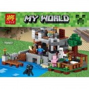 517PCS My World Harbor Wharf Building Blocks Educational For Toddlers Clever Construction Toys Compatible LegoINGlys Minecrafter