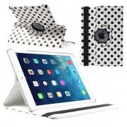 Capa Inteligente Rotativa Polka Dot para iPad Air - Preto / Branco