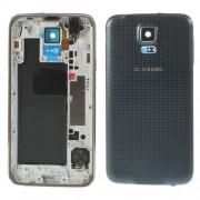 Carcasa Corp Mijloc Samsung SM-G900H Cu Capac Baterie Spate Originala Gri