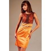Valerie sukienka (pomarańczowo-brązowy)