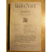 Mercure De France, T. Cclx, N°887, 1er Juin 1935. Contient : Hugophobes Et Hugolâtres, Notes Pour Servir À L'histoire D'un Cinquentenaire Par Francis Ambrière, Souvenirs De La Prospérité...