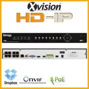NVR rekordér HD IP pro 8 kamer 1080p - VGA, HDMI, ONVIF