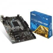 Carte mre H110M PRO-VDP Micro ATX Socket 1151 Intel H110 Express - SATA 6Gb/s - DDR4 - USB 3.1 - 1x PCI-Express 3.0 16x