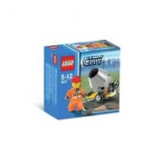 Lego City Builder Set #5610 Hard Hat Construction Worker With Small Cement Mixer