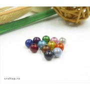 Mărgele rotunde sidefate (100g)