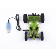 Masina Telecomanda Stunt Car Two Side green-blue - 24611