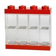 Lego RCL MDC8 RD Minifigure Display Case 8, Plastica, Rosso, 4.6x4.6x4.3 cm