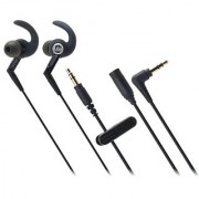 Audio Technica ATHCKP500BK Sporfit In-ear Headphones Black