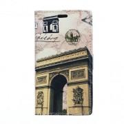 Кожен калъф за Huawei Ascend P8 Lite с триумфалната арка