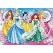 Set Clementoni Disney Princess Joc Memo De Buzunar 100 De Carti Si Puzzle 140 Pi
