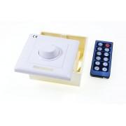 Stmievač k LED pásiku, nástenný, s IRD diaľkovým ovládaním, 8A