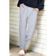 Womens Next Blue/White Cotton Stripe Pants - Blue/White Sleepwear Nightwear