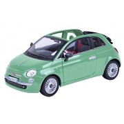 2007 Fiat Nuova 500 Cabrio [Motormax 79164], Verde, 1:18 Die Cast