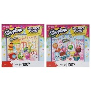 Shopkins Puzzle Gift Bundle of 2 - 100 Piece Shopkins Character Scene Puzzles -15.75 in X 13 in