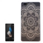 Flower Pattern PC Protective Case for Huawei P8 Lite