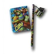Teenage Mutant Ninja Turtles Deluxe Fun School Supply Set - Giant Pencil with Sharpener and Notebook