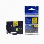 Brother TZ-621 / TZe-621, 9mm x 8m, černý tisk / žlutý podklad kompatibilní