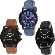 Coolado CL-210361 Combo Of 03 Watches For Men's