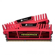 Corsair CMZ8GX3M2A1866C9R Vengeance Memoria per Desktop a Elevate Prestazioni da 8 GB (2x4 GB), DDR3, 1866 MHz, CL9, con Supporto XMP, Rosso