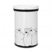 Brabantia Open Top nyitott tetejű szemetes 60 literes fehér mintás - 402005