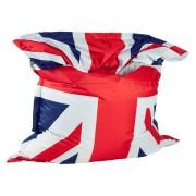 Pouf géant 'LAZY ROYAL' aux couleurs du drapeau anglais
