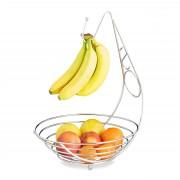 Cos metalic fructe cu suport banane