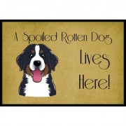 Caroline's Treasures Bernese Mountain Dog Spoiled Dog Lives Here Mat BB1485JMAT / BB1485MAT