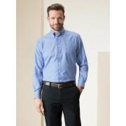 Walbusch Extraglatt-Hemd Soft Twill Blau 44