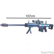 Smart Picks 107cm High-Powered Flash Electric Gun with Flashing Lights, Firing Sound and Vibration