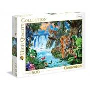 Clementoni - 316366 - Puzzle - Famille Tiger - 1500 Pièces