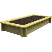 1m x 0.5m, 44mm Wooden Raised Bed 295mm High