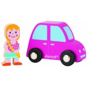 Janod Story Set City (Pink Car And Girl)