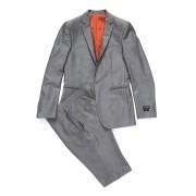 【82%OFF】ノッチドラペル スーツ チャコール 40 ファッション > メンズウエア~~スーツ