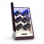 Кутия за навиване на 12 часовника от Karlstein klingenthal от махагон , ръчна изработка