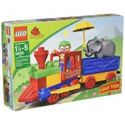Lego Ville Year 2008 Duplo Series Set # 5606 - My First Train Set with Clown Figure