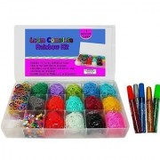 Loom Rainbow Rubber Band Complete Collection Organizer Storage Kit - Includes Over 4000 Rainbow Rubber Bands Including G