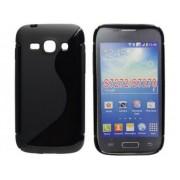 SS Samsung Galaxy Ace 3 GT-S7270 GT-S7272 GT-S7275 szilikon hátlap tok - fekete